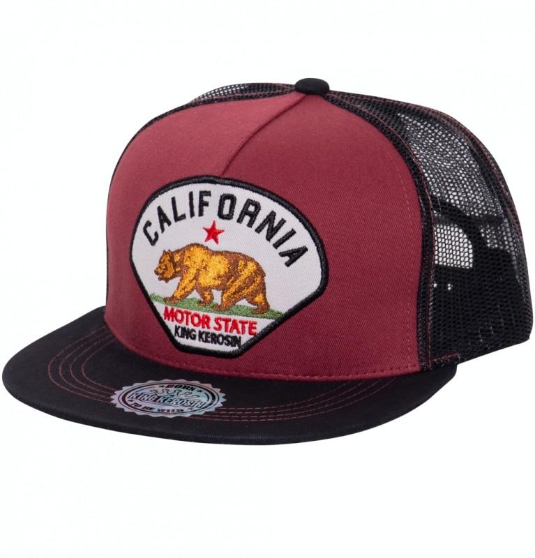 KING KEROSIN Snapback Cap mit Stickerei und Netz California
