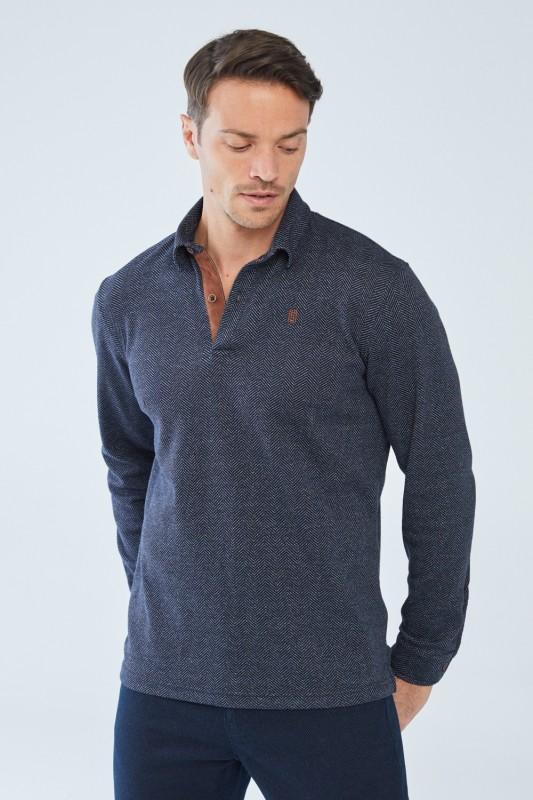 Langarm Polohemd »Change«