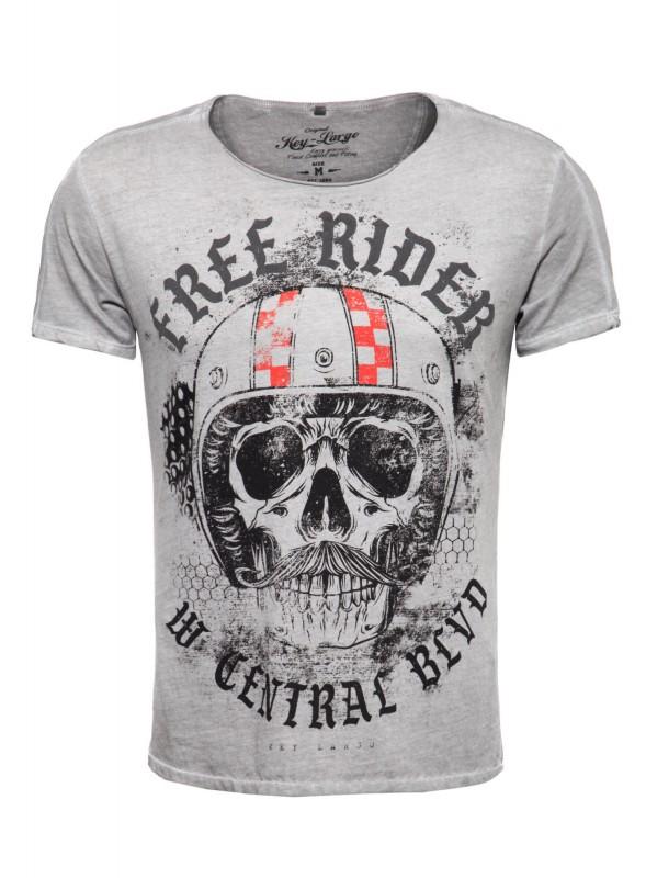 KEY LARGO Herren T-Shirt MT MOUSTACHE MT MOUSTACHE