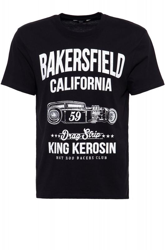 King Kerosin T-Shirt mit Hot Rod Print Bakersville