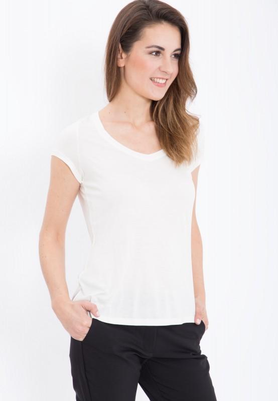 MEXX Basic T-Shirt mit V-Ausschnitt aus Viskose