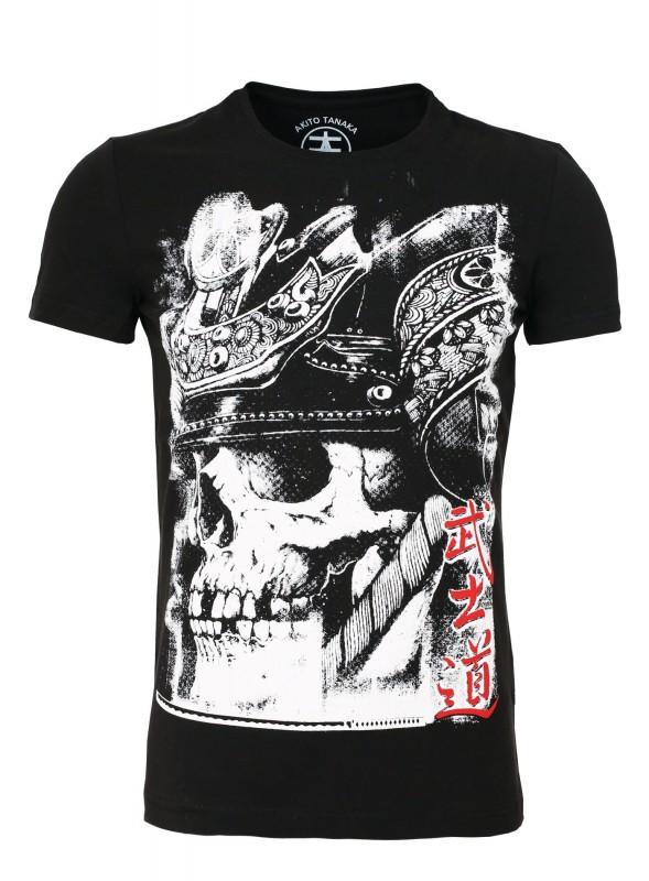 AKITO TANAKA Rundhalsshirt mit Skull Frontprint