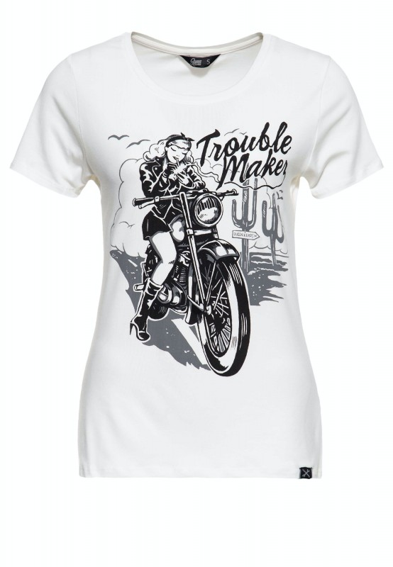 Slim Fit Print Shirt »Trouble Maker«