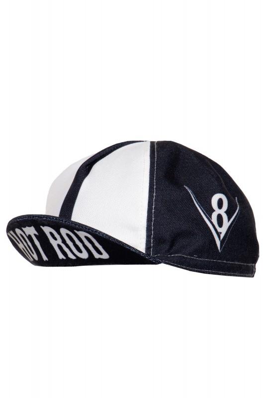 Vintage Cycling Cap mit seitlichen Prints »Hot Rod«