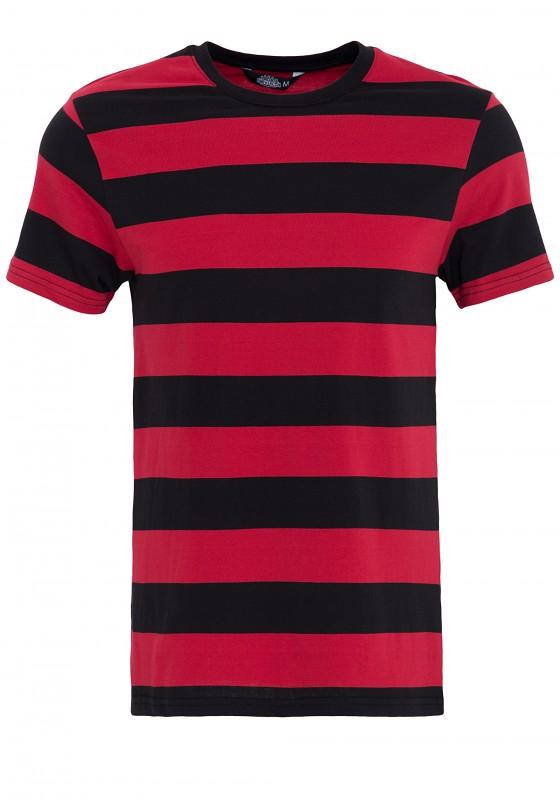KING KEROSIN T-Shirt aus Streifenjersey