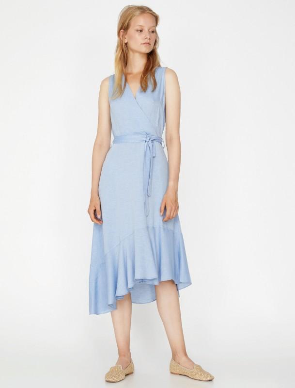KOTON Sommerkleid mit asymmetrischem Saum