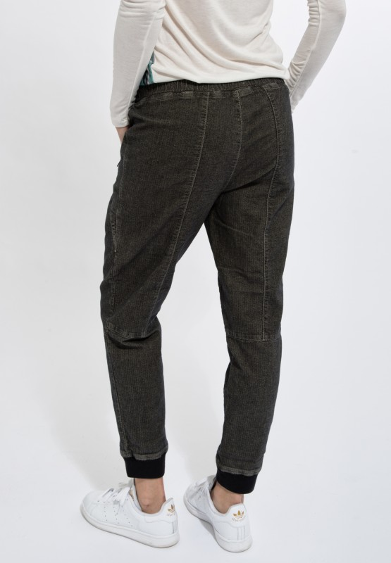 Jogger Pants mit Fischgrätenmuster - Winter Olive