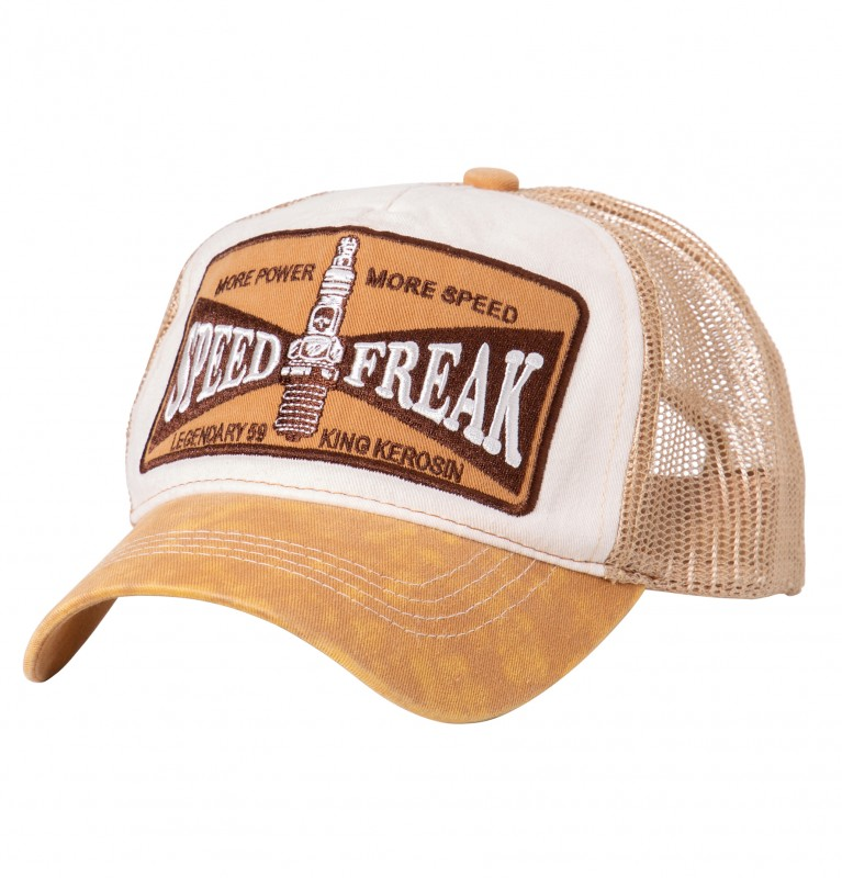 KING KEROSIN Trucker Cap in Used-Optik Speed Freak