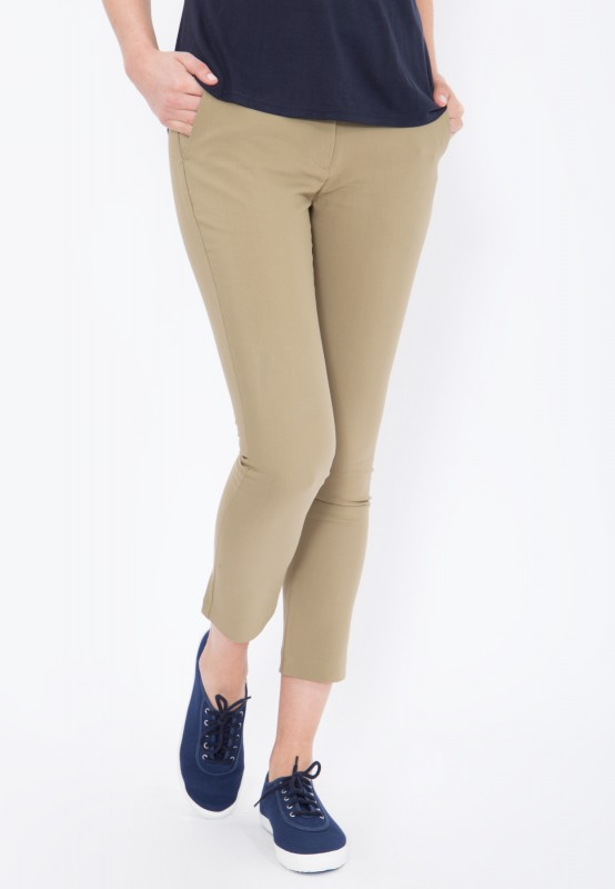 MEXX elegante 7/8 Stoffhose von Mexx, Slim Fit - khaki - Slim Fit