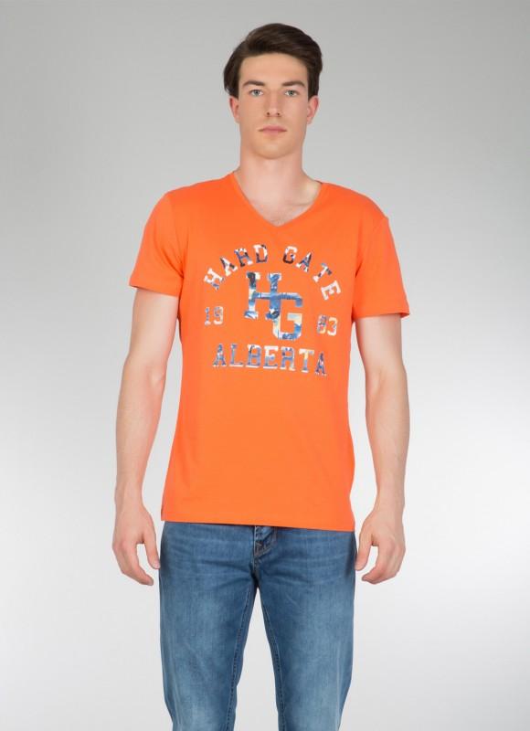 COLINS T-Shirt mit Print und V-Ausschnitt