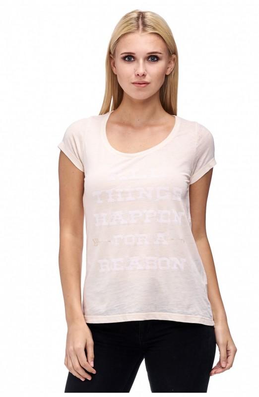 DECAY 1/2 Arm Shirt mit Paillettenschriftzug