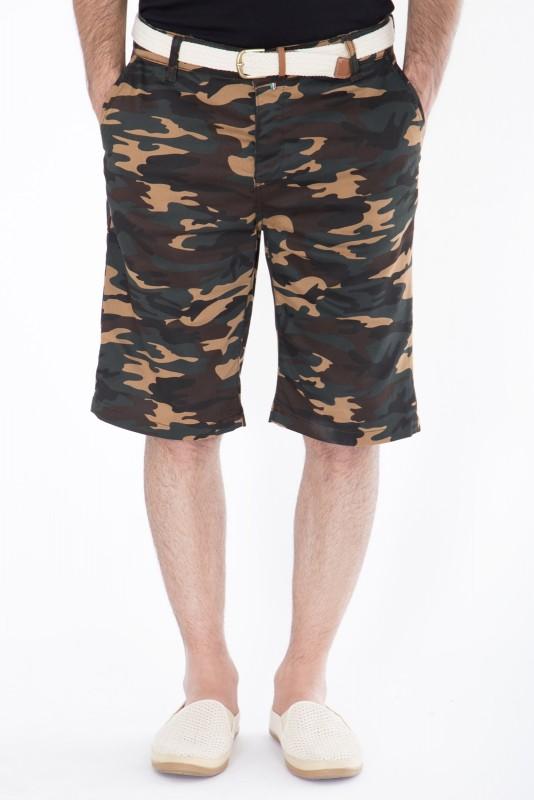 DANIEL DAAF Chino-Shorts mit Tarnmuster - braun (Brown)