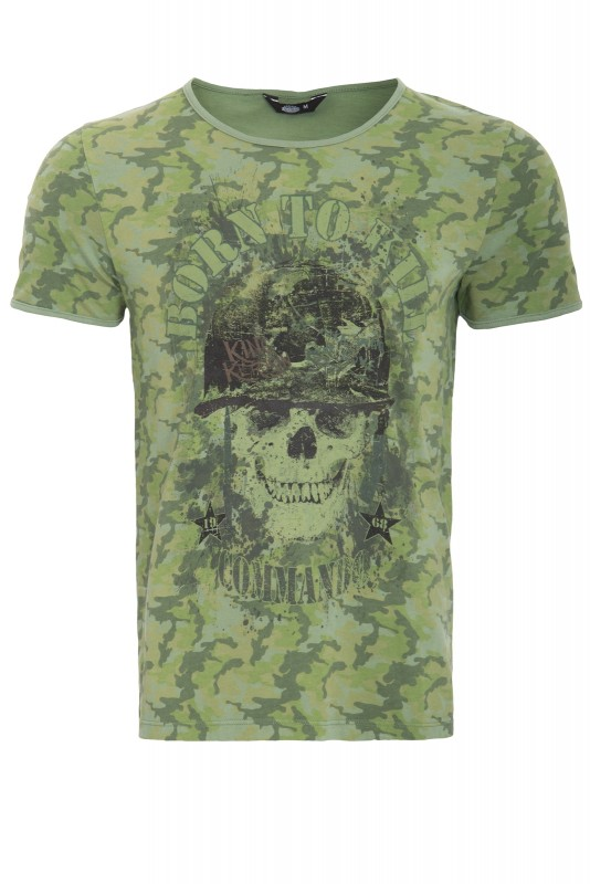 KING KEROSIN T-Shirt mit Print born to kill - Evergreen