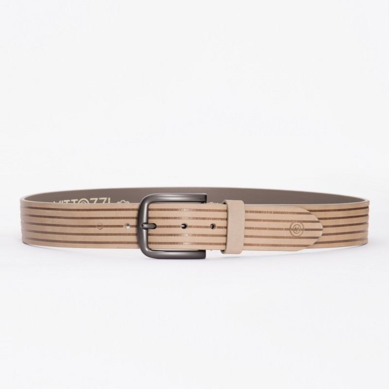 VITTOZZI Ledergürtel im Streifen Design Line
