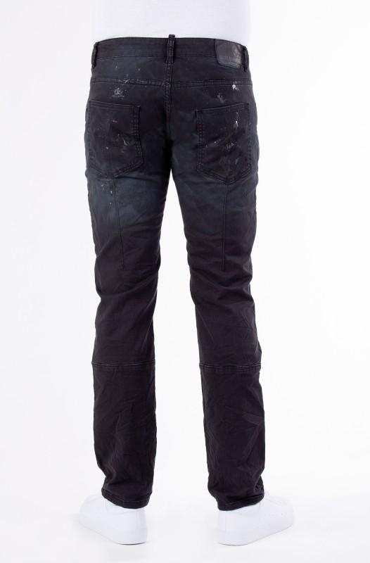 BLUE MONKEY Stretchhose in Paint Splash Optik mit Zipper-Details Alva 2012