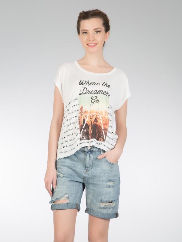 COLINS Printshirt mit überschnittenem Arm mit überschnittenem Arm und Print