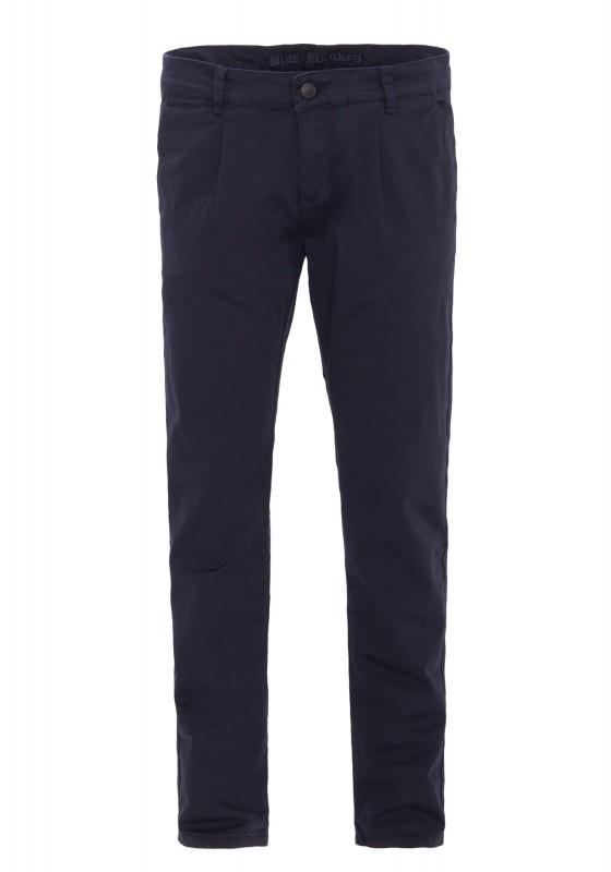 BLUE MONKEY Slim Fit Hose mit Bundfalten und Paspeltaschen hinten » Joe 4437 « Joe 4437