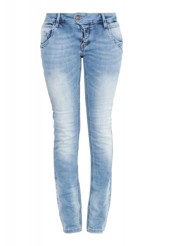 BLUE MONKEY 5 Pocket Jeans mit Knopfleiste BM04Manie