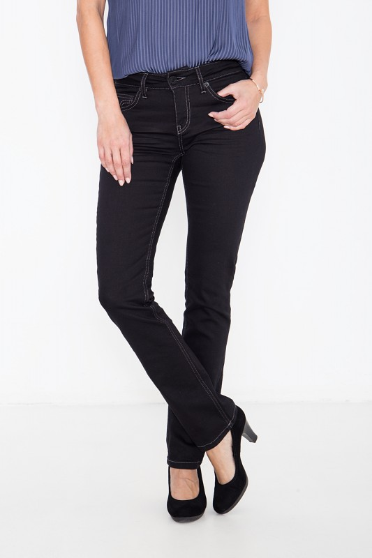 ATT JEANS Basic Straight Cut Jeans in cleanem Look Stella