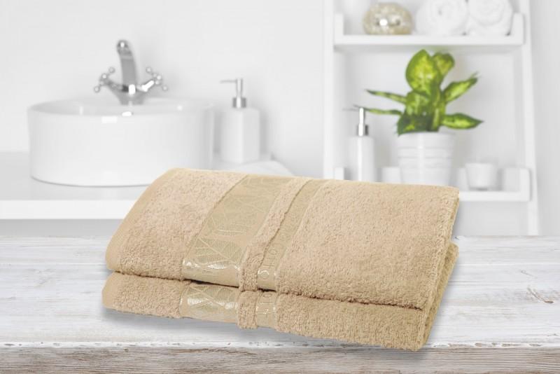 WAY OF GLORY Saugstarkes Handtuch aus reiner Baumwolle im Doppelpack