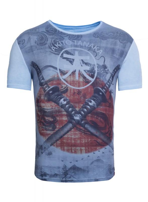 AKITO TANAKA Print Shirt mit komplett bedrucktem Vorderteil Double Sword