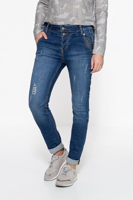ATT JEANS Boy Fit Jeans »Kira« mit Paillettenaufsätzen Kira