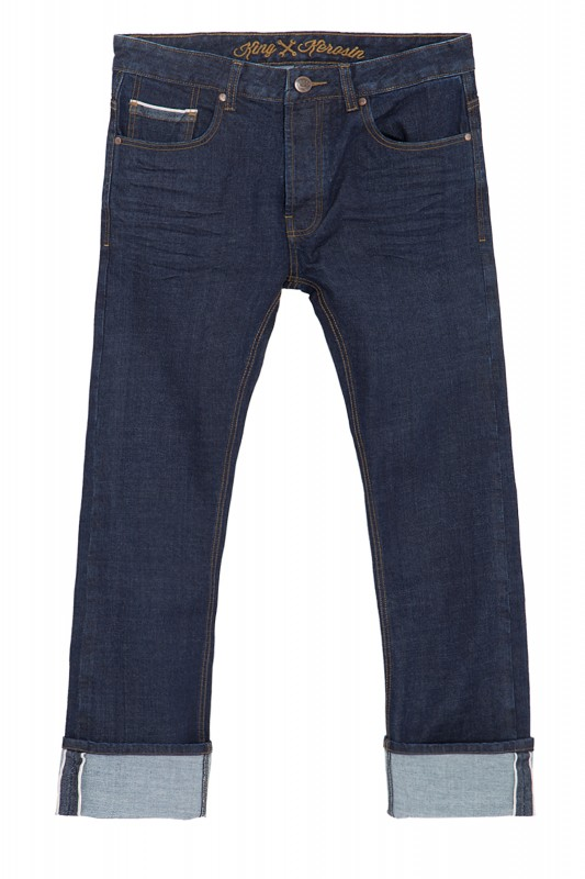 KING KEROSIN Selvedge Jeans in cleanem Rinsed Wash