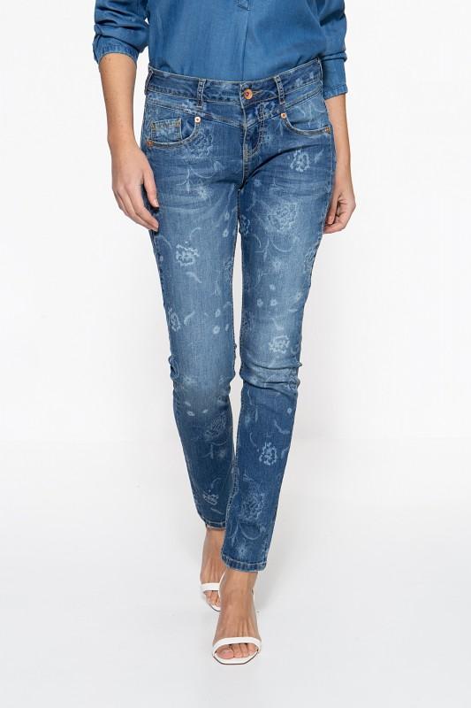 ATT JEANS Slim Fit Jeans »Zoe« mit floralem Muster Zoe