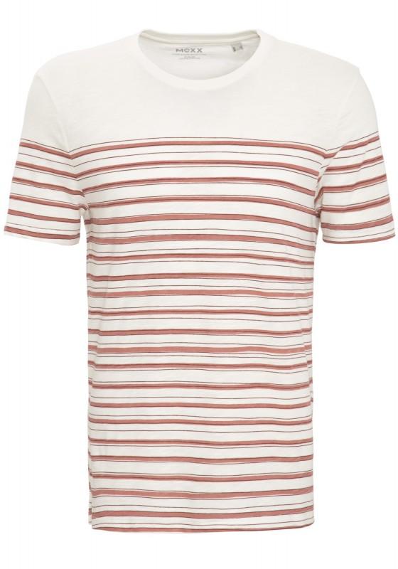 MEXX Shirt mit Streifendruck aus Slub Jersey