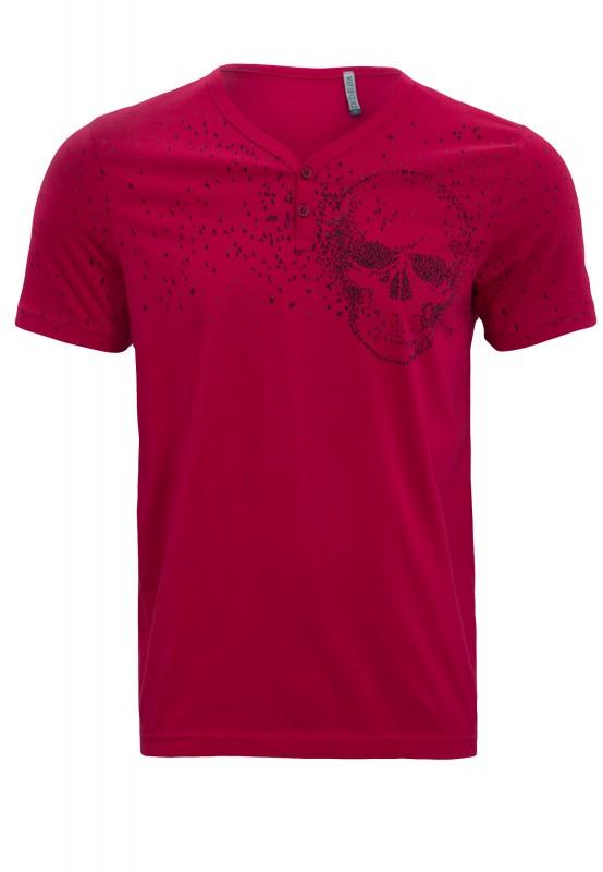 Shirt von Way of Glory mit Skull Musterung - bordeaux