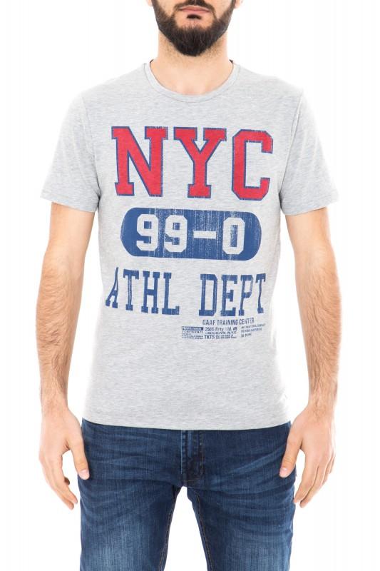 Daniel Daaf Shirt mit Schriftzug - grau (grey)