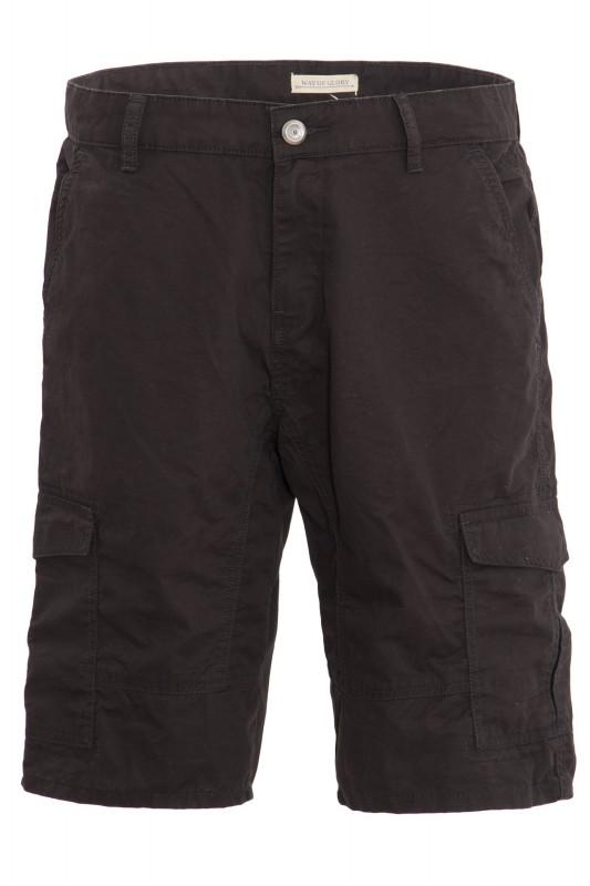 WAY OF GLORY Cargo Shorts mit angenehmer Tragekomfort - schwarz