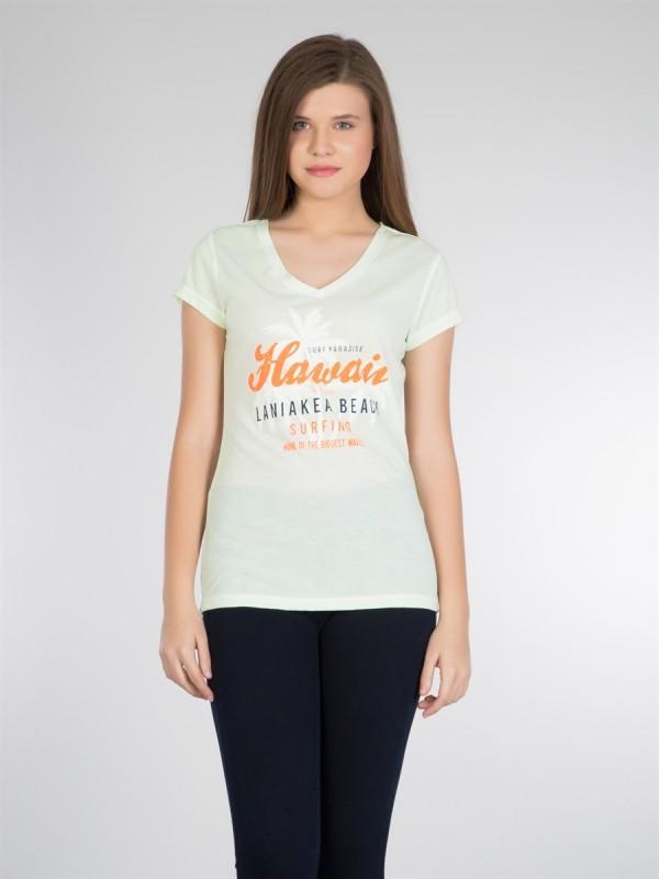 COLINS Print Shirt mit Print und V-Ausschnitt