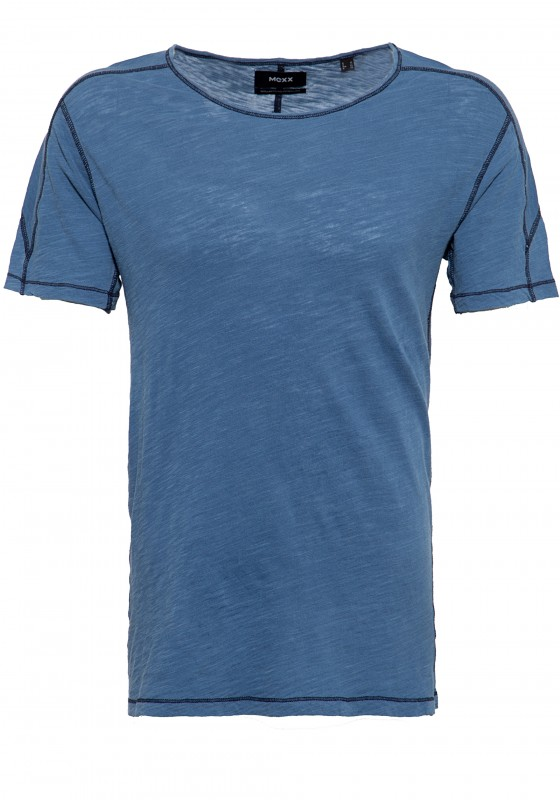 MEXX Shirt mit sportive Flatlocknähten, Garment Dye