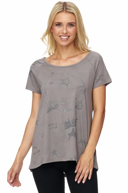 DECAY Shirt mit Smiley Applikation