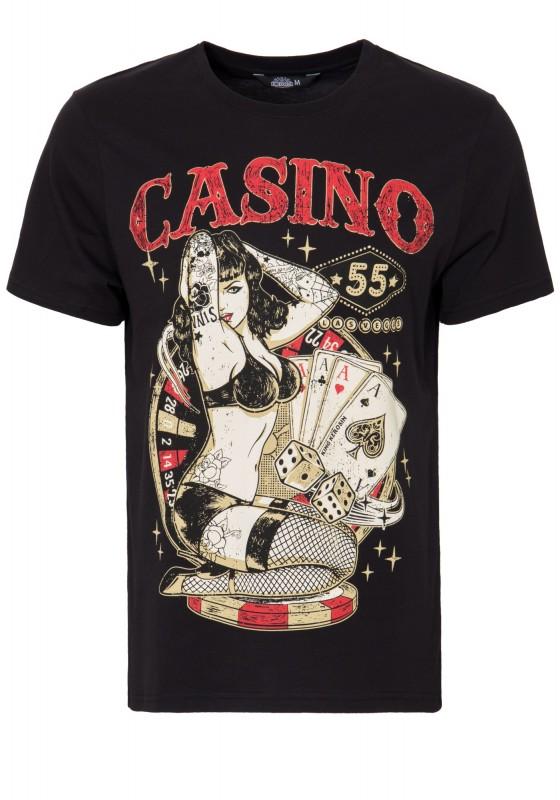 KING KEROSIN T-Shirt mit Front Print »Casino« Casino