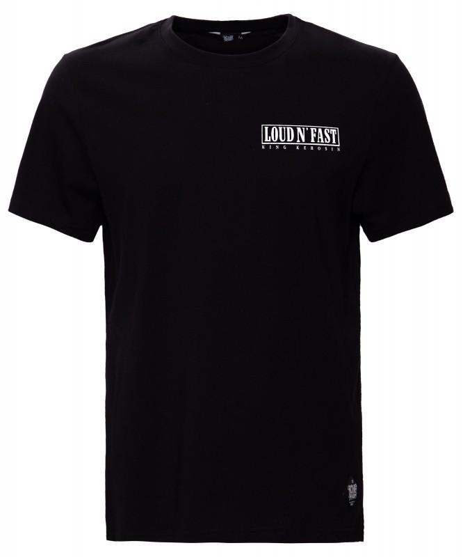 KING KEROSIN Print T-Shirt mit Retro Druck Loud & Fast