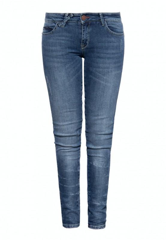 WAY OF GLORY Denim Jeans mit Used-Effekten und Waschung