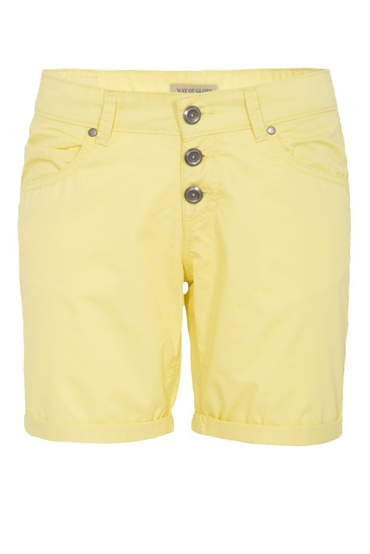 WAY OF GLORY Basic Bermuda-Shorts - gelb