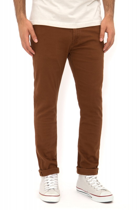 WAY OF GLORY Chino Hose Slim Fit 5-Pocket Form - rostbraun - Slim Fit