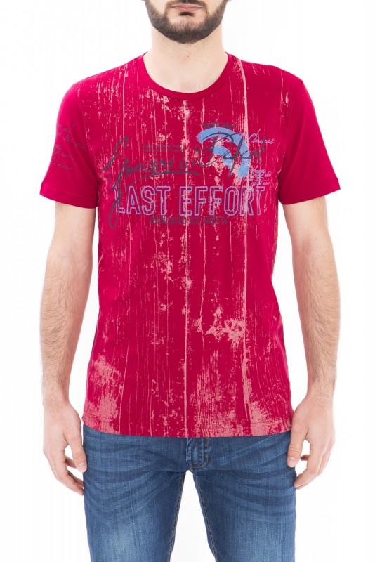 DANIEL DAAF T-Shirt im Used Look mit Schriftprint