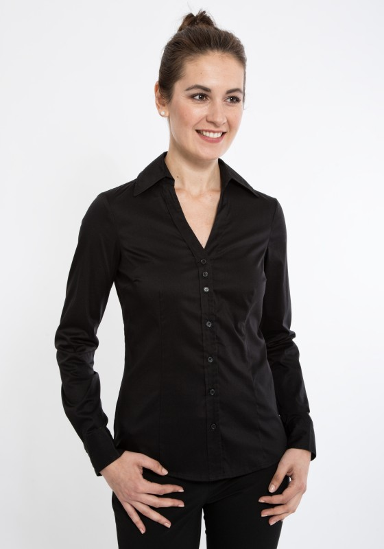 MEXX Strech Bluse mit offenem Blusenkragen