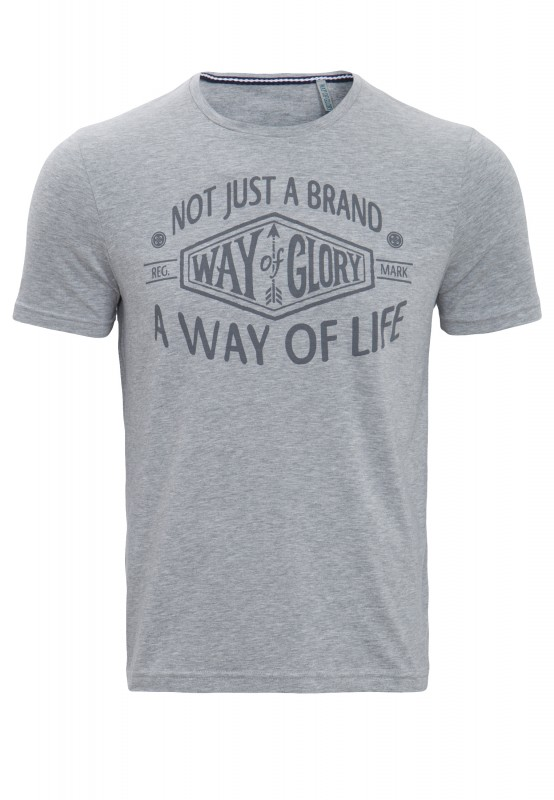 WAY OF GLORY T-Shirt mit großem Frontprint