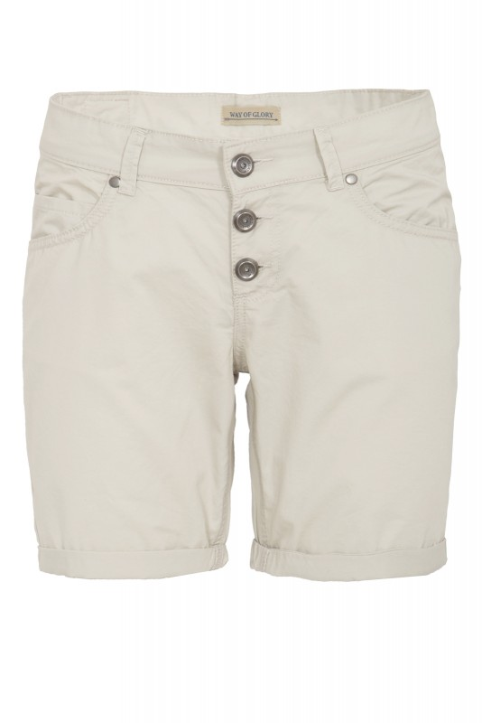 WAY OF GLORY Basic Bermuda-Shorts - beige