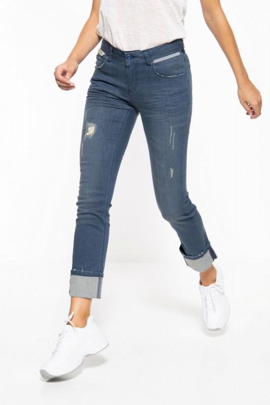 5-Pocket Jeans im Used-Look mit reflektierenden Details »Stella«