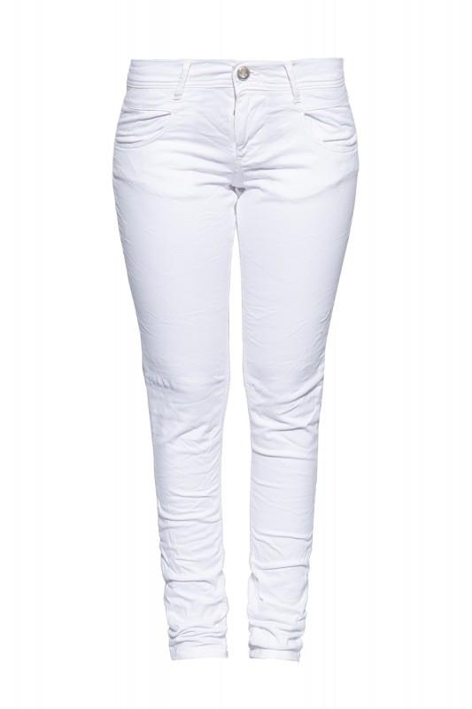 WAY OF GLORY Damen Slim Fit Jeans mit leichten Destroyed Effekten
