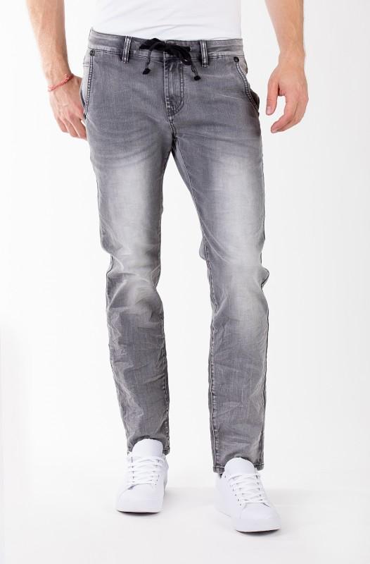 BLUE MONKEY Slim-Fit Jeans mit Kordelzug am Bund ROCK 4378