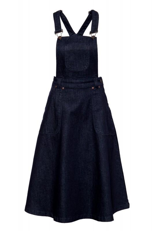 Süßer Latzrock aus Denim in Workwear-Optik