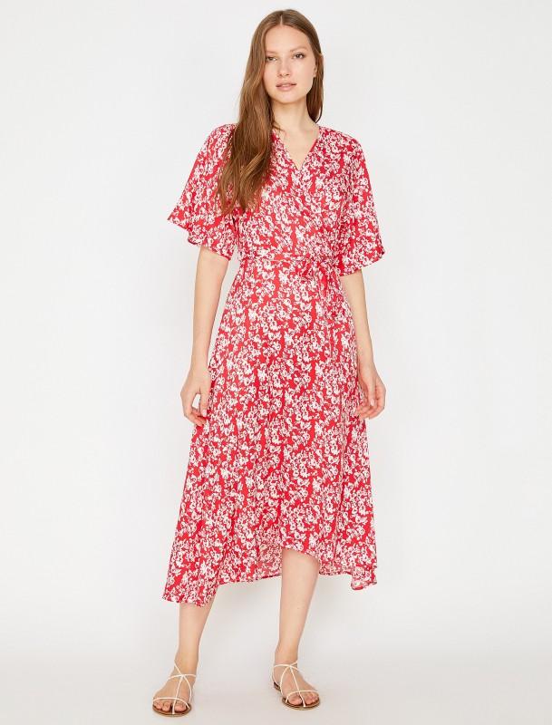KOTON Sommerkleid mit Ausschnitt in Wickeloptik
