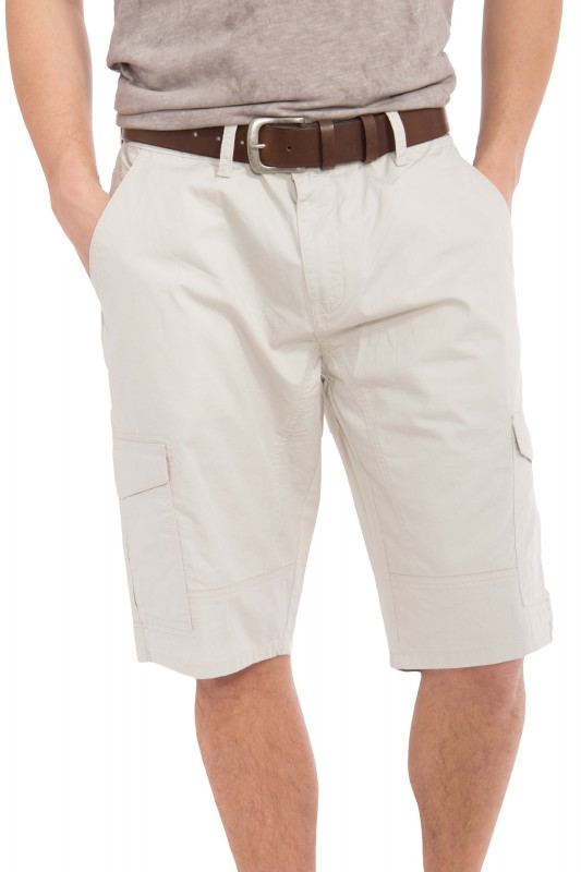 WAY OF GLORY Cargo Shorts mit angenehmer Tragekomfort - offwhite
